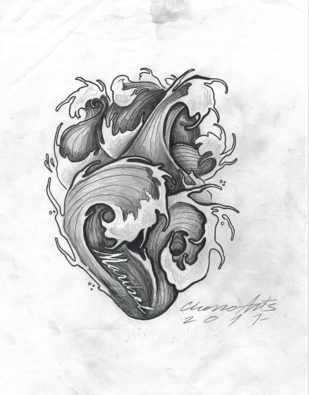 olas corazon tattoo tatuaje tatuadores palencia