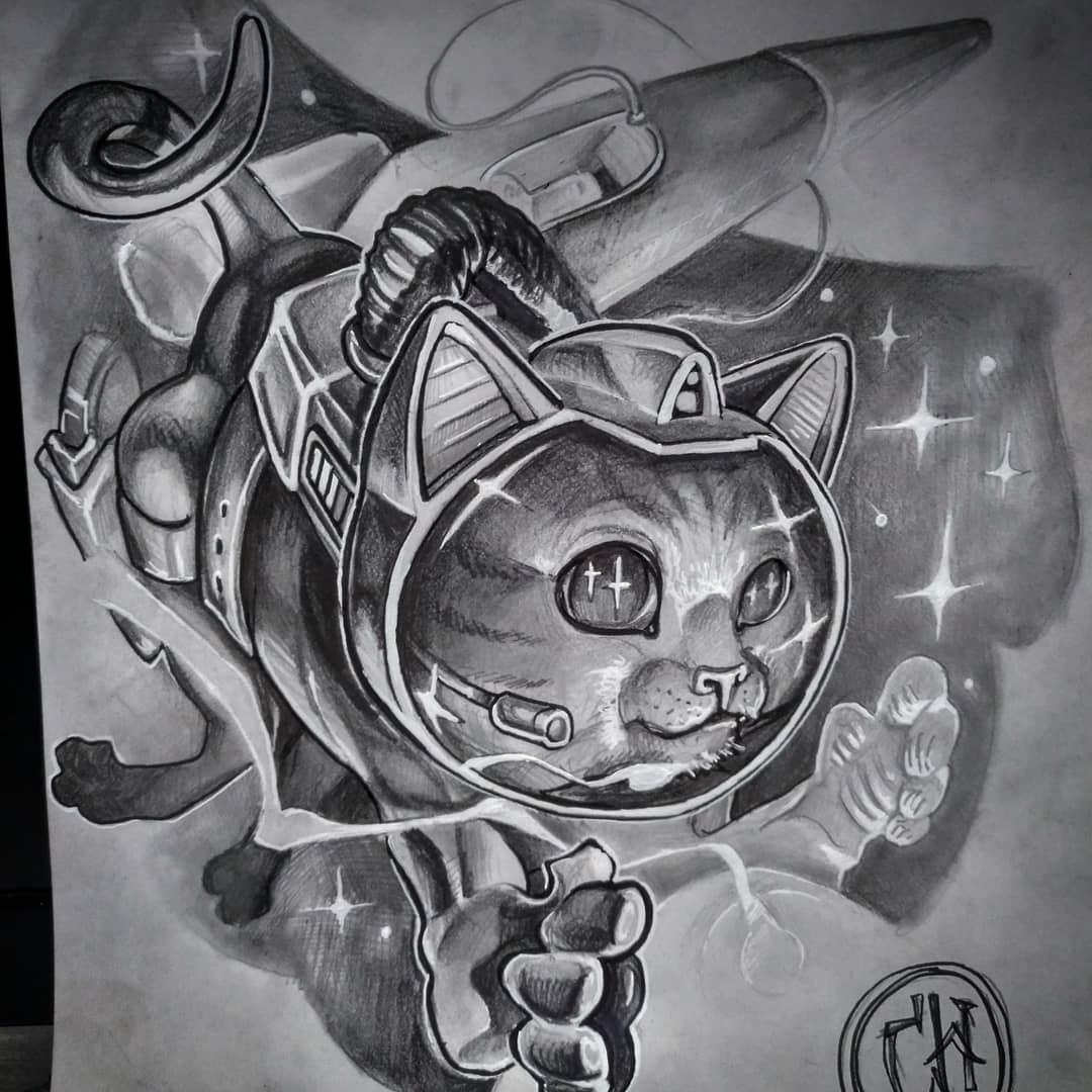 new school tattoo palencia tatuaje burgos león santander gato cósmico