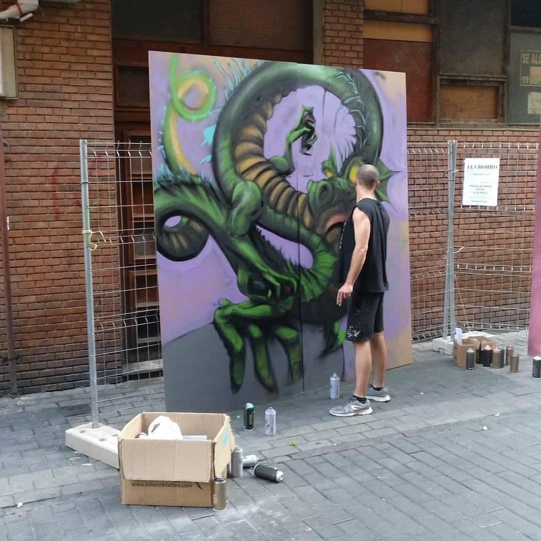 dani rodriguez san antolin palencia infame arte urbano exposición bares con arte