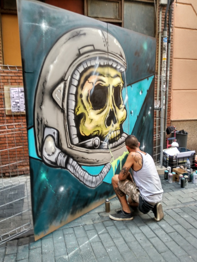 oloki palencia infame san antolin arte urbano exposición bares con arte