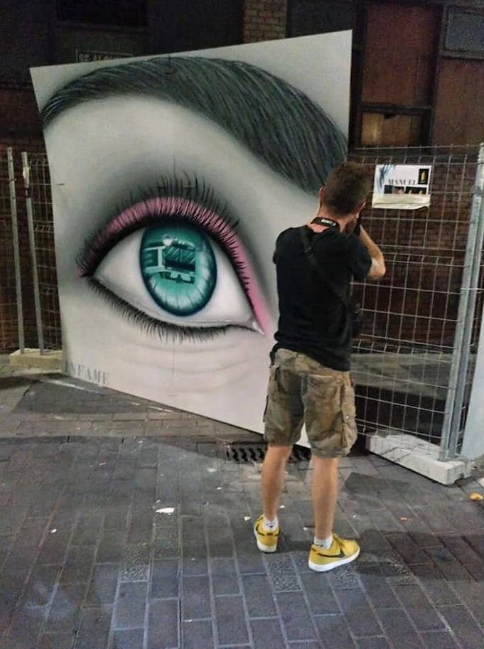 manuel garcia juan palencia infame san antolin arte urbano exposición bares con arte