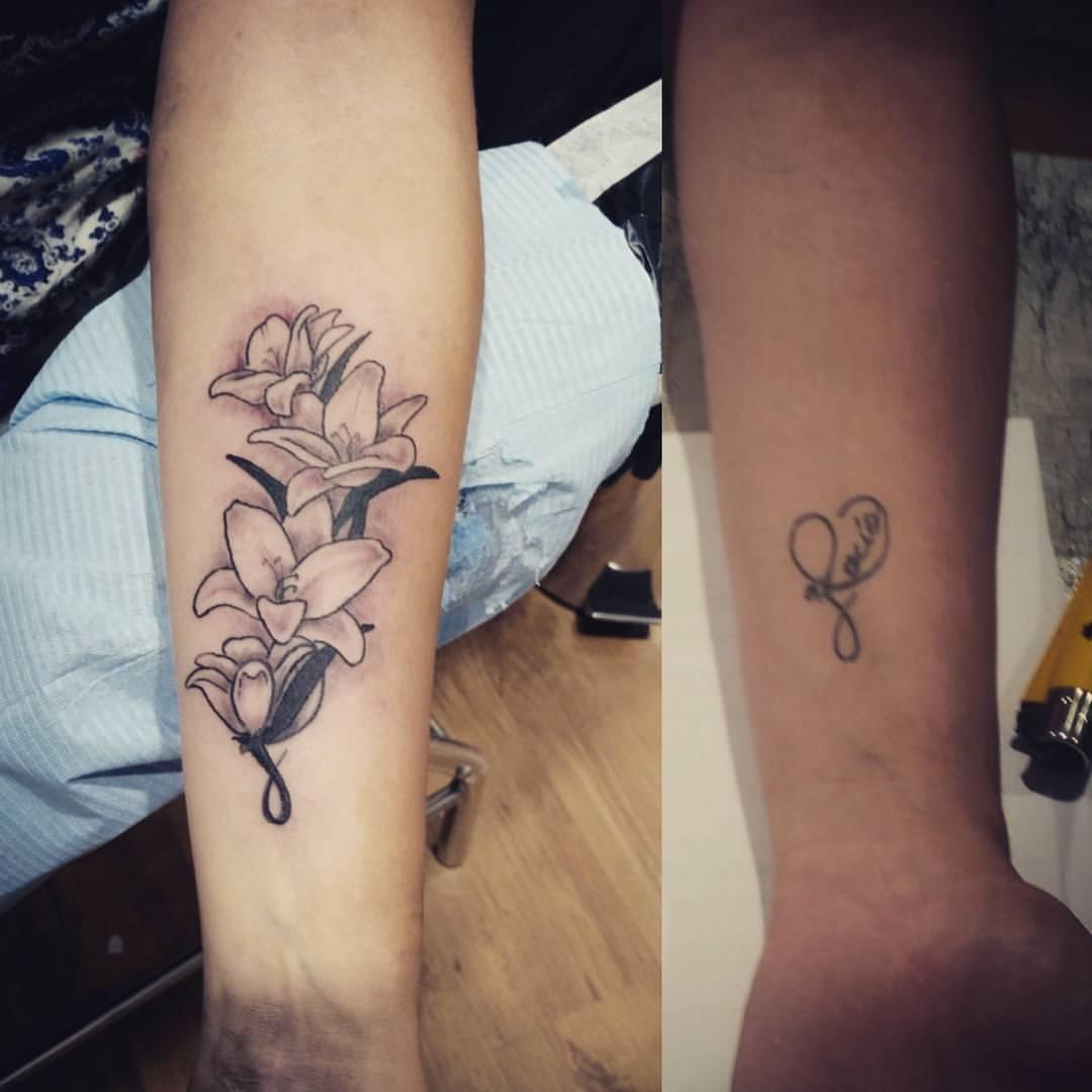 Cover Up tattoo palencia tatuaje flores