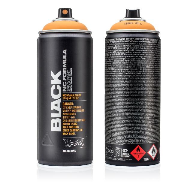 montana black spray pintura