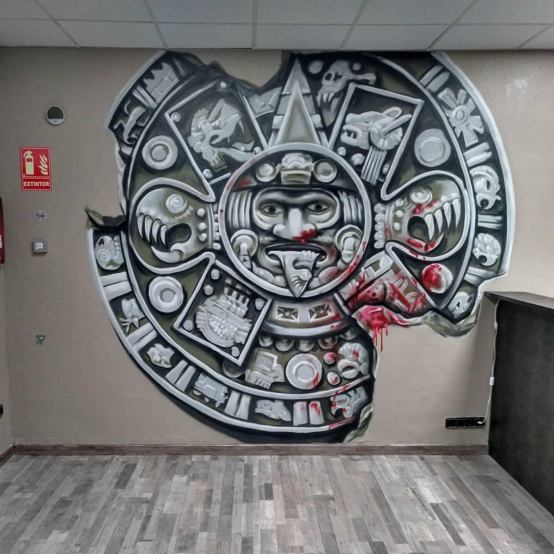 ARTE MURAL INTERVENCION GRAFFITI PALENCIA VALLADOLID